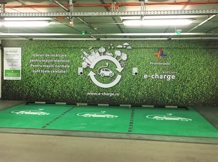 Promenada Mall a deschis primul punct de încărcare a mașinilor electrice, în parteneriat cu Renovatio