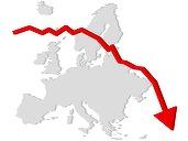 Acțiunile europene închid pe roșu, influențate de scăderea încrederii managerilor în economia Germaniei