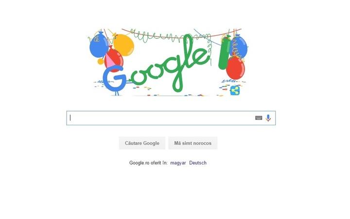 Motorul de căutare Google împlinește 18 ani