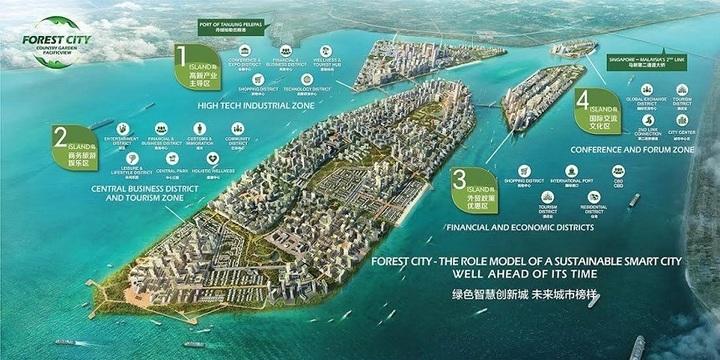 Dezvoltatori chinezi construiesc un oraș de 100 de miliarde de dolari în Malaysia, lângă Singapore