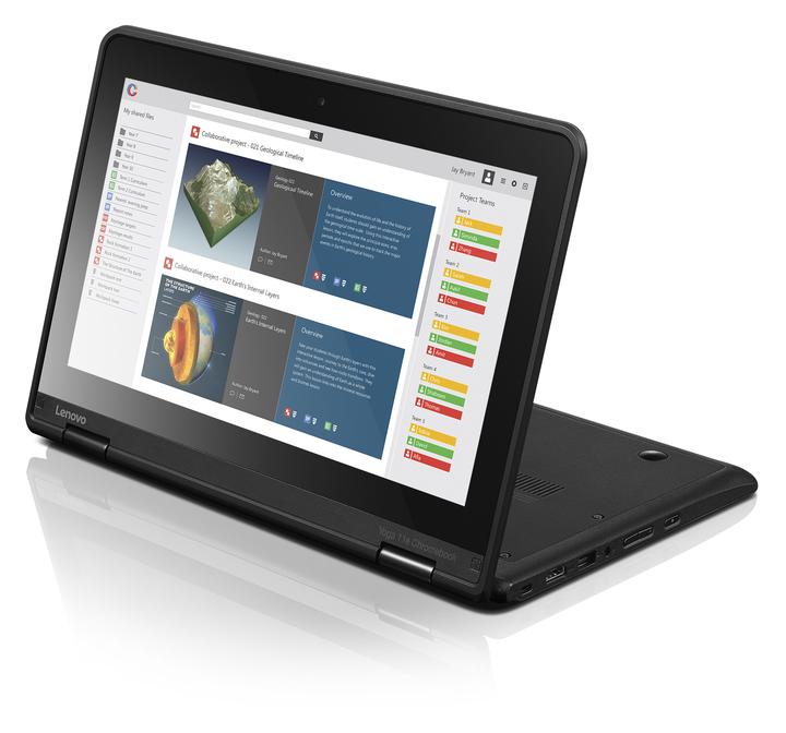 FOTO Lenovo lansează două laptopuri cu Chrome OS dedicate mediului de învățare din România