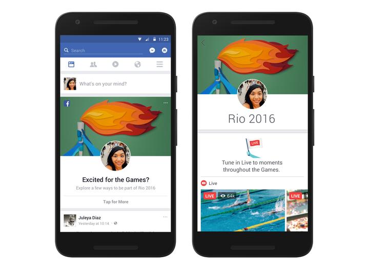 Facebook are o secțiune dedicată Olimpiadei de la Rio, dar lasă de dorit la capitolul relevanță