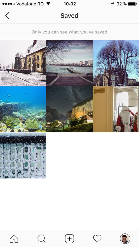 Instagram oferă opțiune de salvare a posturilor pentru vizionare ulterioară