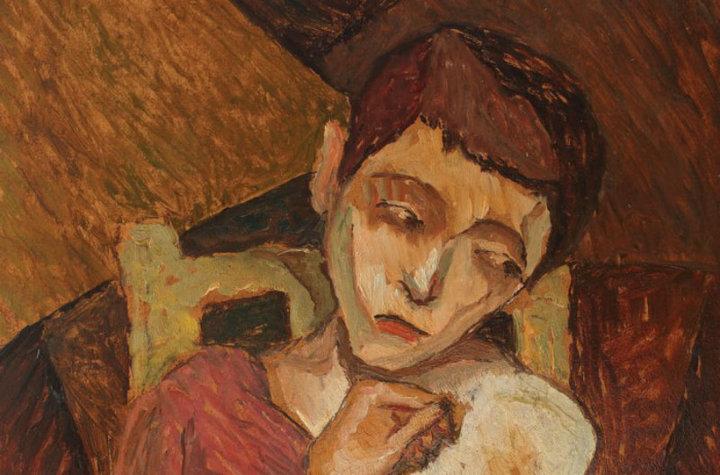 """Tabloul """"Portret de fată"""" de Victor Brauner, scos la licitație pentru 25.000 de euro"""