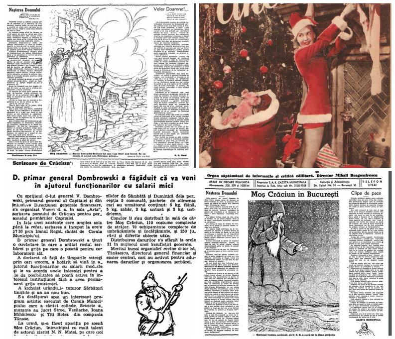FOTO Crăciunul ilustrat și comentat în presa românească a anilor \'30-\'40. De la desene de Victor Ion Popa, la întâmplările de tinerețe ale lui Constantin Bacalbașa și reclame vechi