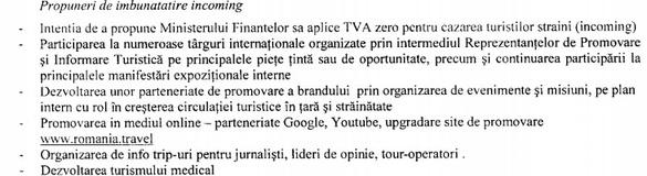 DOCUMENT Ministerul Economiei va relua discuțiile cu Finanțele pentru TVA zero la cazarea turiștilor străini