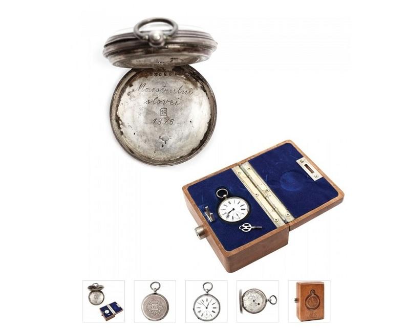 Ceasul de buzunar al lui Mihai Eminescu, vândut la licitație unui cumpărător online pentru 19.000 euro