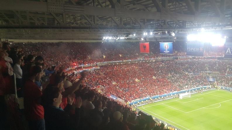 FOTOREPORTAJ Echipa României, actor pasiv la momentul unei națiuni. Albania a câștigat meciul de fotbal și spectacolul de imagine