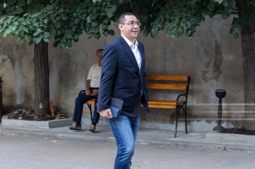 Fostul premier Victor Ponta, audiat de Tribunalul Gorj în calitate de martor într-un dosar de mărturie mincinoasă