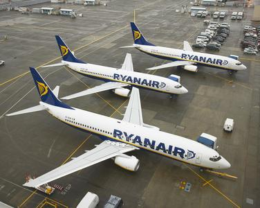 Ryanair ţinteşte pentru 2018 locul trei în topul liniilor aeriene ce activează în România