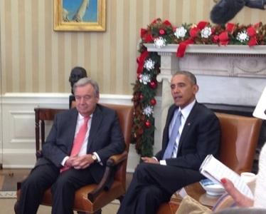 Barack Obama îşi exprimă încrederea în capacitatea lui Antonio Guterres de a conduce Naţiunile Unite