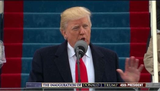 """Preşedintele Donald Trump şi-a început discursul de învestire adresându-se """"oamenilor din întreaga lume"""""""