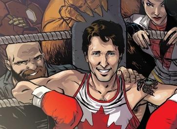 Prim-ministrul canadian Justin Trudeau, personaj de benzi desenate, într-o revistă Marvel
