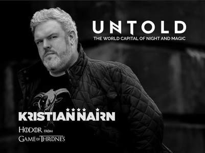 """Actorul Kristian Nairn, interpretul personajului Hodor în """"Urzeala tronurilor"""", urcă pe scena festivalului Untold 2016"""