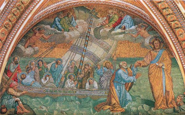Un istoric maghiar spune că a descoperit într-o biserică din Transilvania o copie rară a unui mozaic pictat de Giotto