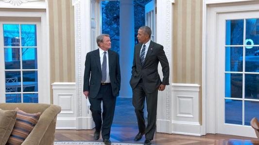 """Barack Obama va acorda ultimul interviu în calitate de preşedinte în emisiunea TV """"60 Minutes"""""""