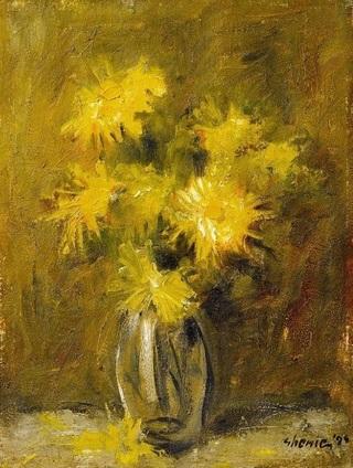 """Lucrarea """"Flori"""", de Adrian Ghenie, estimată la 40.000 de euro, va fi licitată la casa Goldart"""