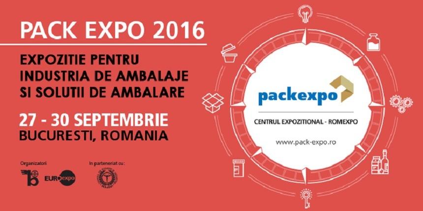 COMUNICAT DE PRESĂ: 5.000 de ambalaje, etichete si solutii de ambalare la ROMEXPO; PACK EXPO, intre 27 si 30 septembrie, Pavilionul Central