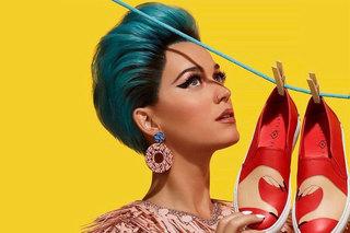 Cântăreaţa Katy Perry şi-a lansat o colecţie de pantofi