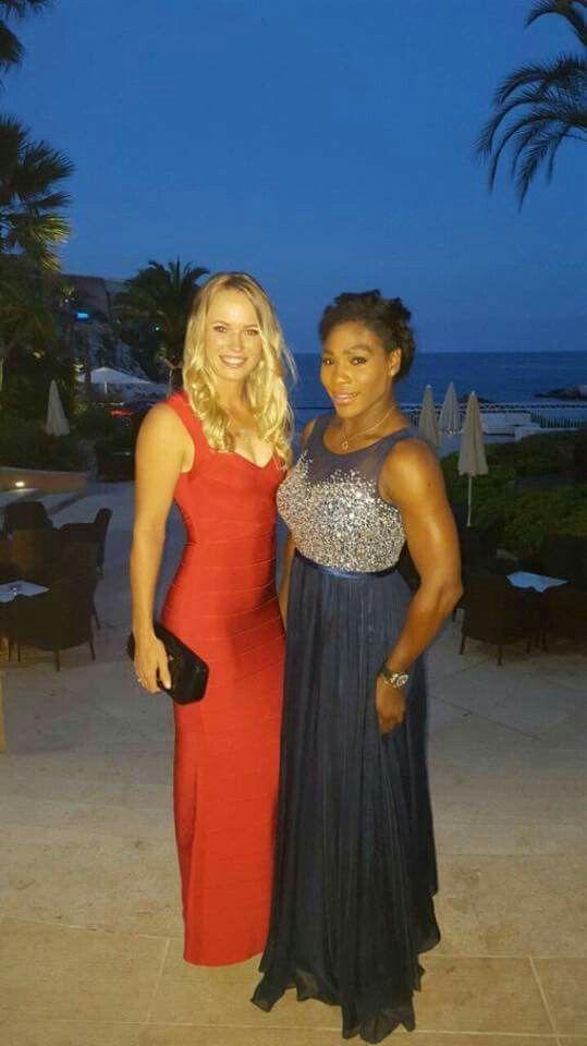Caroline Wozniacki si Serena Williams in Morocco