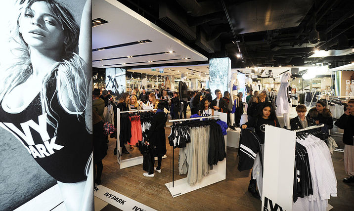 LONDON, ENGLAND - APRIL 14: General view of shoppers as Beyonce's Ivy Park collection goes on sale at TopShop on April 14, 2016 in London, England. (Photo by Stuart C. Wilson/Getty Images)
