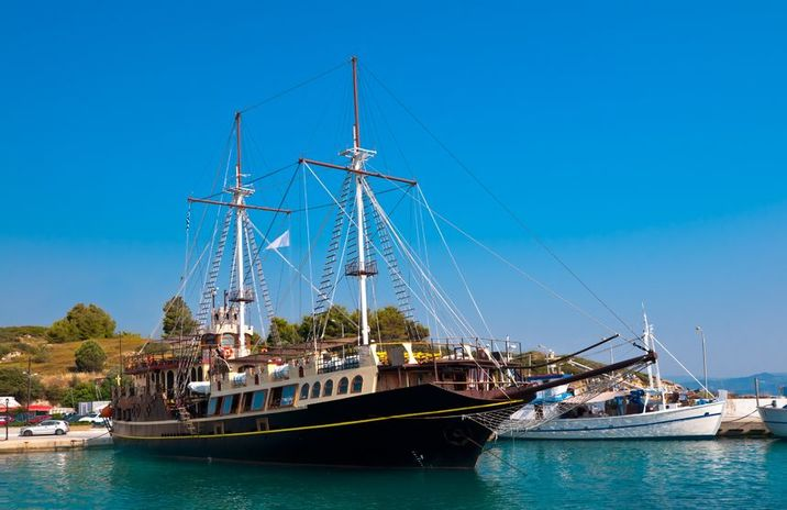 14648798 - touristic sailing boat in ormos panagias, sithonia, greece