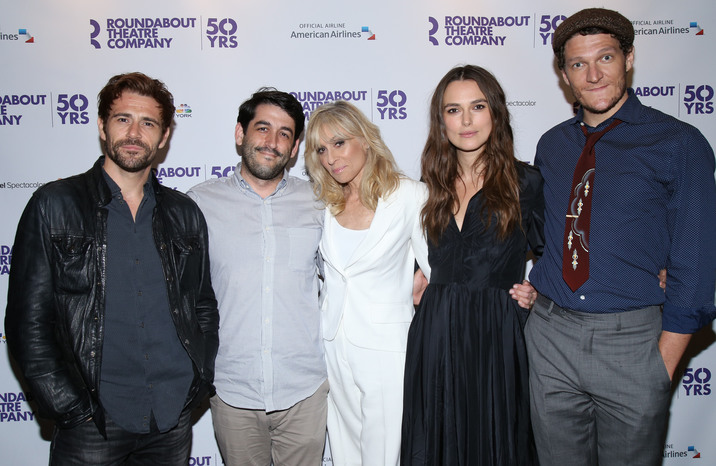 Roundabout Theatre Company's 50th Anniversary kick-off party held at the American Airlines Theatre - Arrivals. Featuring: Matt Ryan, Evan Cabnet, Judith Light, Keira Knightley, Gabriel Ebert Where: New York City, New York, United States When: 10 Sep 2015 Credit: Joseph Marzullo/WENN.com