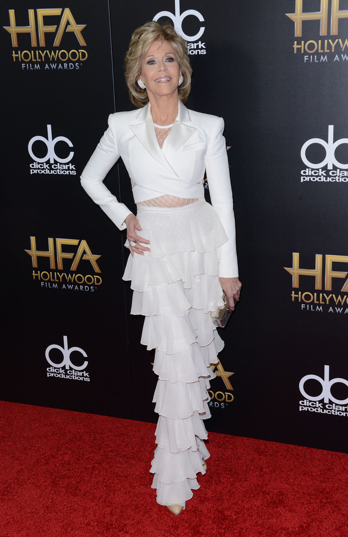 51896333 Celebrities at the 19th Annual Hollywood Film Awards at the Beverly Hilton Hotel in Beverly Hills, California on November 1st, 2015. Celebrities at the 19th Annual Hollywood Film Awards at the Beverly Hilton Hotel in Beverly Hills, California on November 1st, 2015. Pictured: Jane Fonda FameFlynet, Inc - Beverly Hills, CA, USA - +1 (818) 307-4813 RESTRICTIONS APPLY: NO FRANCE