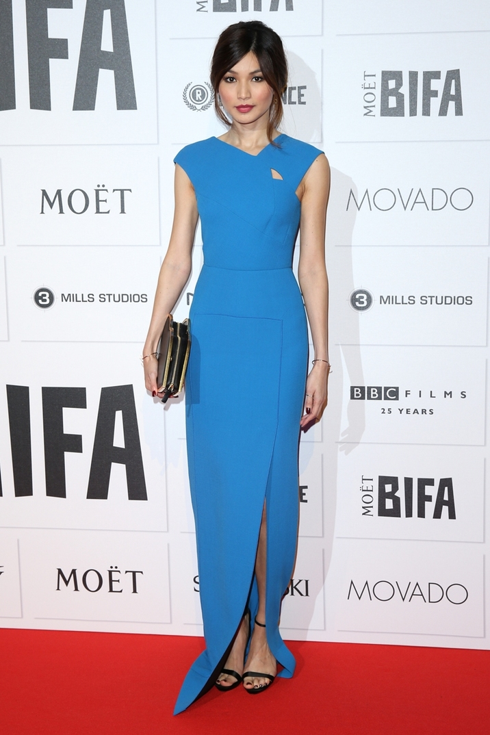 Moet British Independent Film Awards 2015 held at Old Billingsgate Market - Arrivals Featuring: Gemma Chan Where: London, United Kingdom When: 06 Dec 2015 Credit: Lia Toby/WENN.com