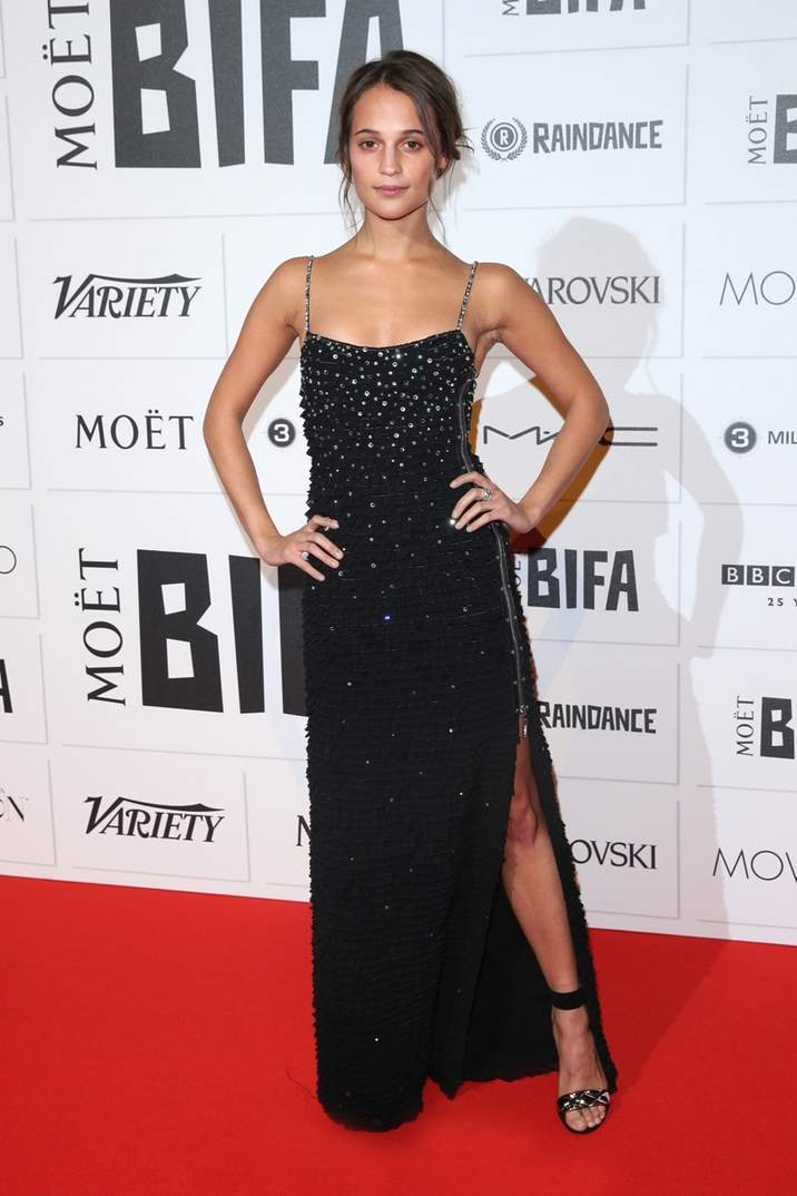 Moet British Independent Film Awards 2015 held at Old Billingsgate Market - Arrivals Featuring: Alicia Vikander Where: London, United Kingdom When: 06 Dec 2015 Credit: Lia Toby/WENN.com