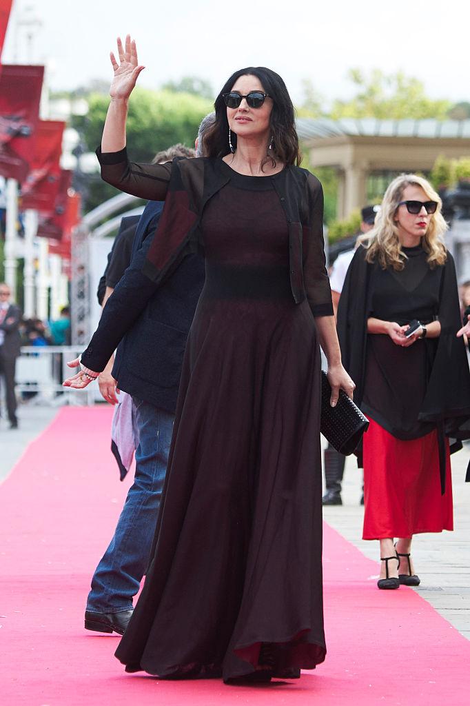 SAN SEBASTIAN, SPAIN - SEPTEMBER 19:  Actress Monica Bellucci attends 'Na Mlijecnom Putu (On The Milky Road)' premiere during the 64th San Sebastian International Film Festival at Victoria Eugenia Theater on September 19, 2016 in San Sebastian, Spain.  (Photo by Carlos Alvarez/Getty Images)