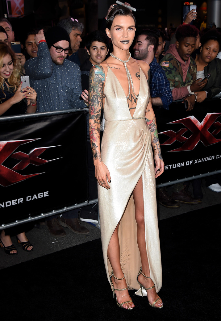 Mandatory Credit: Photo by Jim Smeal/BEI/Shutterstock (7903580n) Ruby Rose 'xXx: The Return of Xander Cage' film premiere, Los Angeles, USA - 19 Jan 2017