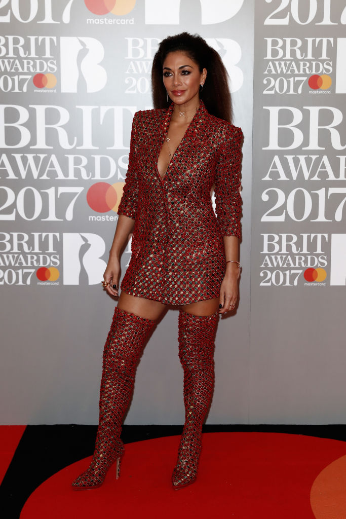 LONDON, ENGLAND - FEBRUARY 22: (EDITORIAL USE ONLY) Nicole Scherzinger attends The BRIT Awards 2017 at The O2 Arena on February 22, 2017 in London, England. (Photo by John Phillips/Getty Images)