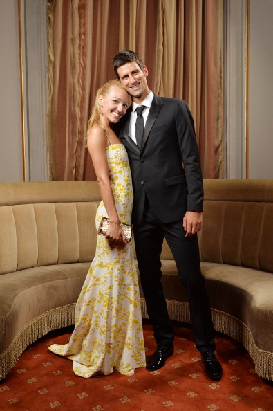 NEW YORK, NY - SEPTEMBER 10: (EXCLUSIVE ACCESS, SPECIAL RATES APPLY) Executive Director of the Novak Djokovic Foundation Jelena Ristic and Founding Chairman of the Novak Djokovic Foundation Novak Djokovic attend The Novak Djokovic Foundation New York Dinner at Capitale on September 10, 2013 in New York City. (Photo by Andrew H. Walker/Getty Images)