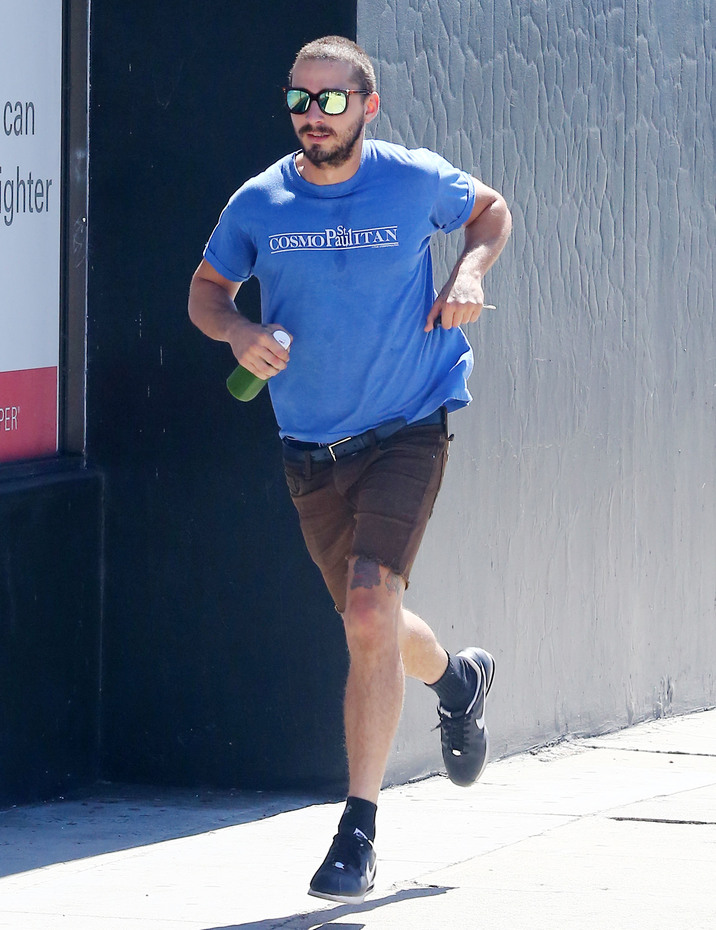 Exclusive... 51865089 'American Honey' actor Shia LaBeouf is seen heading to a gym in Los Angeles, California for a workout on September 30, 2015. Shia is back in California after attending the 2015 Toronto International Film Festival. FameFlynet, Inc - Beverly Hills, CA, USA - +1 (818) 307-4813