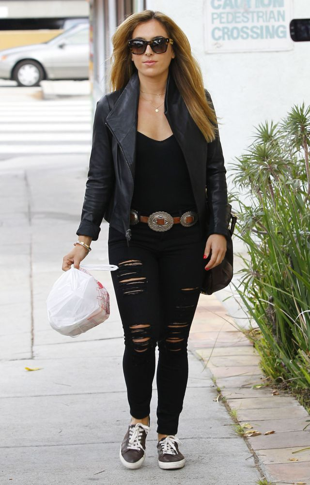 Christine Ouzounian Spotted Out For An Early Dinner In Santa Monica
