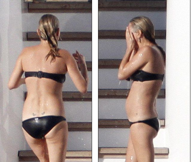 Kate Moss, pe iaht, în Italia