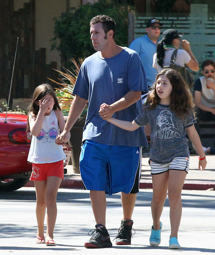 Adam Sandler Takes His Daughters Sunny And Sadie To Breakfast