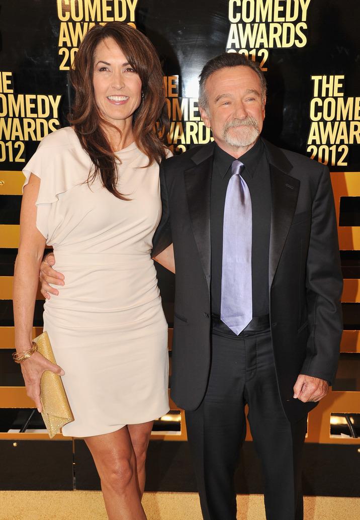 Susan Schneider şi comedian Robin Williams