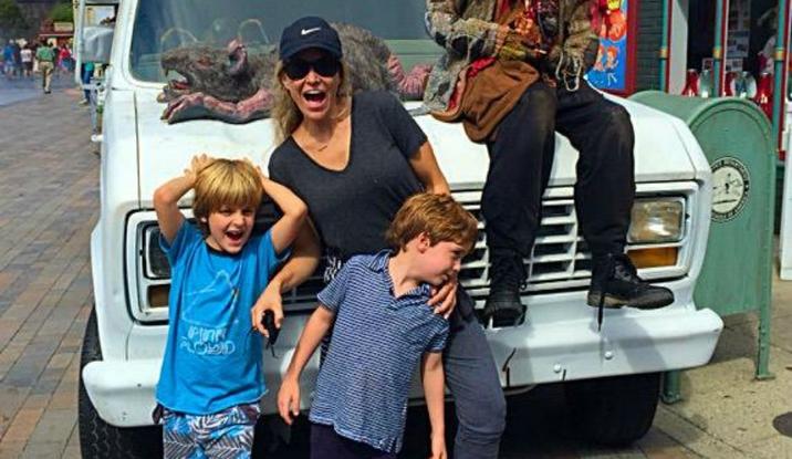 Brooke Mueller şi băieţii lor, Max şi Bob