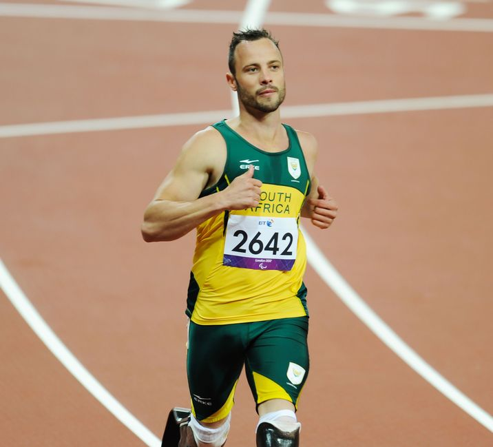 Oscar Pistorius of South Africa sets a new world record for the Men's 200m Heat T44 during the London 2012 Paralympic Games at the Olympic Stadium London, England - 01.09.12 Mandatory Credit: WENN.com