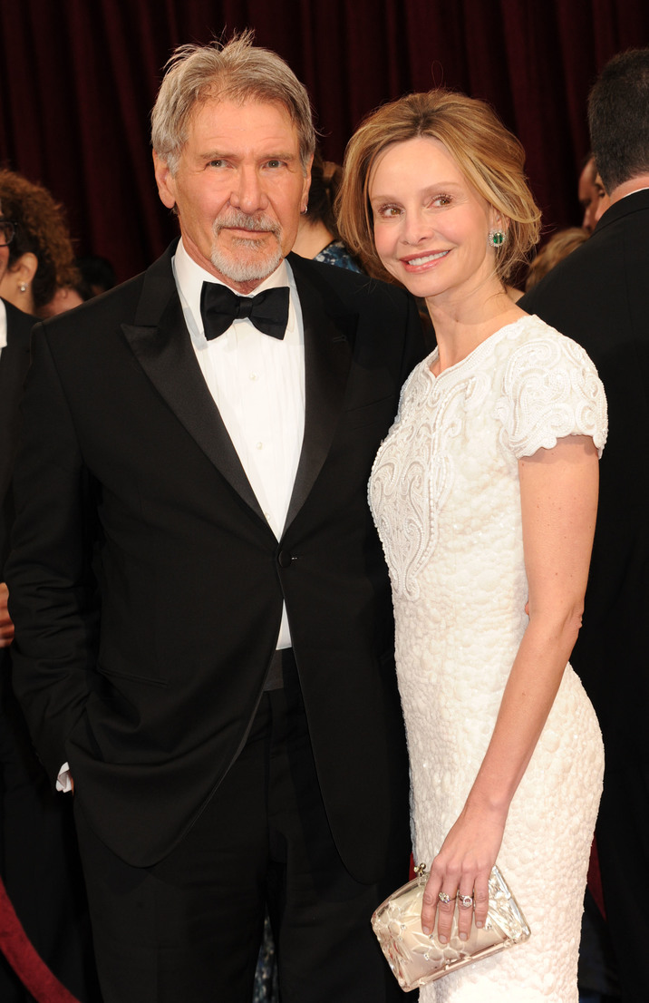 02 Mar 2014, Hollywood, Los Angeles, California, USA --- March 2 2014: Harrison Ford and Calista Flockhart attending the 86th Annual Academy Awards held at the Dolby theater in Hollywood, California. Mandatory Credit: Jennifer Graylock/INFphoto.com Ref: infusny-142|sp| --- Image by © infusny-142/INFphoto.com/Corbis