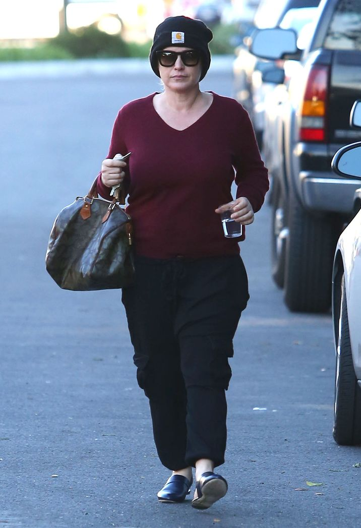 51955636 'CSI: Cyber' actress Patricia Arquette is spotted out running errands in West Hollywood, California on January 25, 2016. Patricia hid her face once she saw the cameraman. FameFlynet, Inc - Beverly Hills, CA, USA - +1 (310) 505-9876