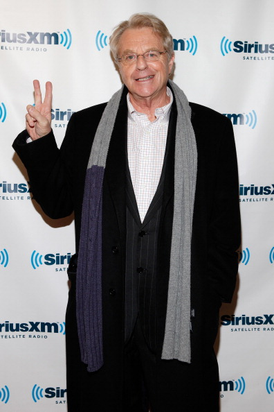 NEW YORK, NY - JANUARY 19: (EXCLUSIVE COVERAGE) TV personality Jerry Springer visits SiriusXM Studio on January 19, 2012 in New York City. (Photo by Cindy Ord/Getty Images)