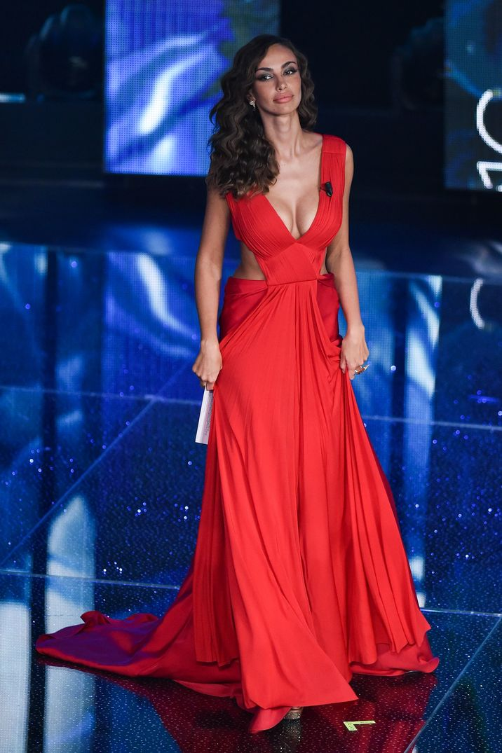 Madalina Ghenea Sanremo Festival 3rd Night show Sanremo- Italy 11th february 2016 © FameFlynet_Italy/SGP id 102721_023 *not exclusive