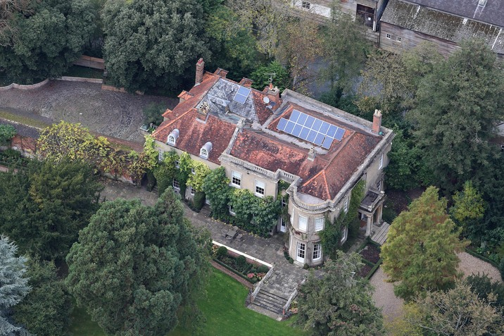 Aerial views of the new home of George Clooney and wife Amal in England. Pictured: Aerial Views of the Clooney residence. Ref: SPL870133  261014   Picture by: Charlie/MK/Splash News Splash News and Pictures Los Angeles:310-821-2666 New York:212-619-2666 London:870-934-2666 photodesk@splashnews.com