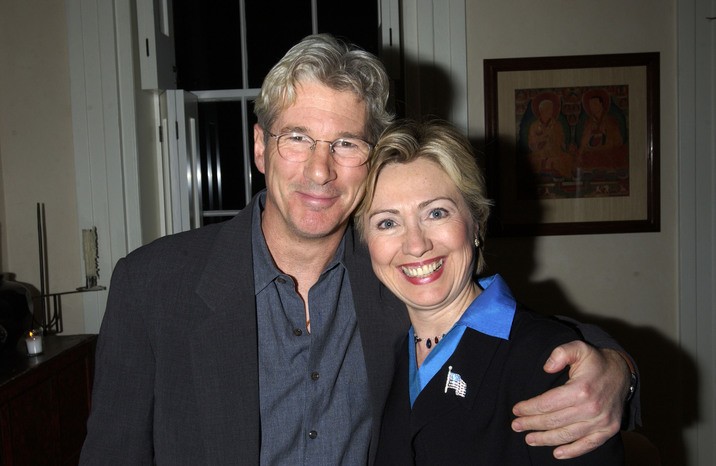 Richard Gere and Senator Hillary Rodham Clinton (Photo by Theo Wargo/WireImage)