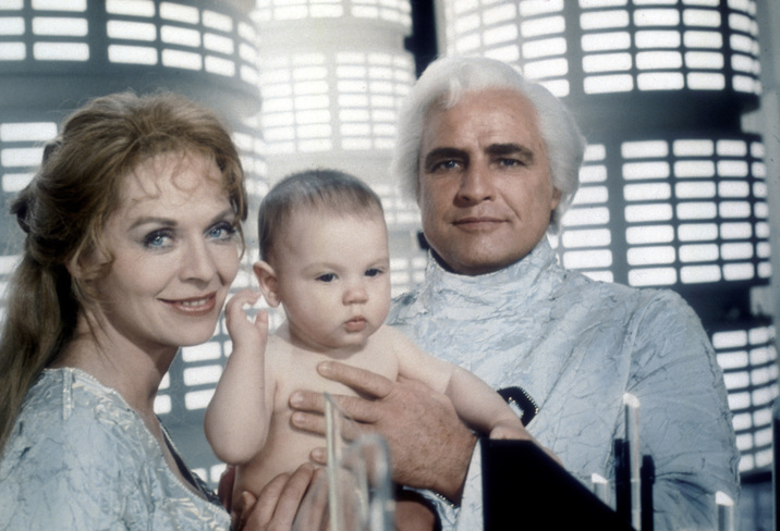 DECEMBER 15:  Actor Marlon Brando and actress Susannah York in a film still during a scene from the movie Superman which was released on December 15, 1978. (Photo by Michael Ochs Archives/Getty Images)
