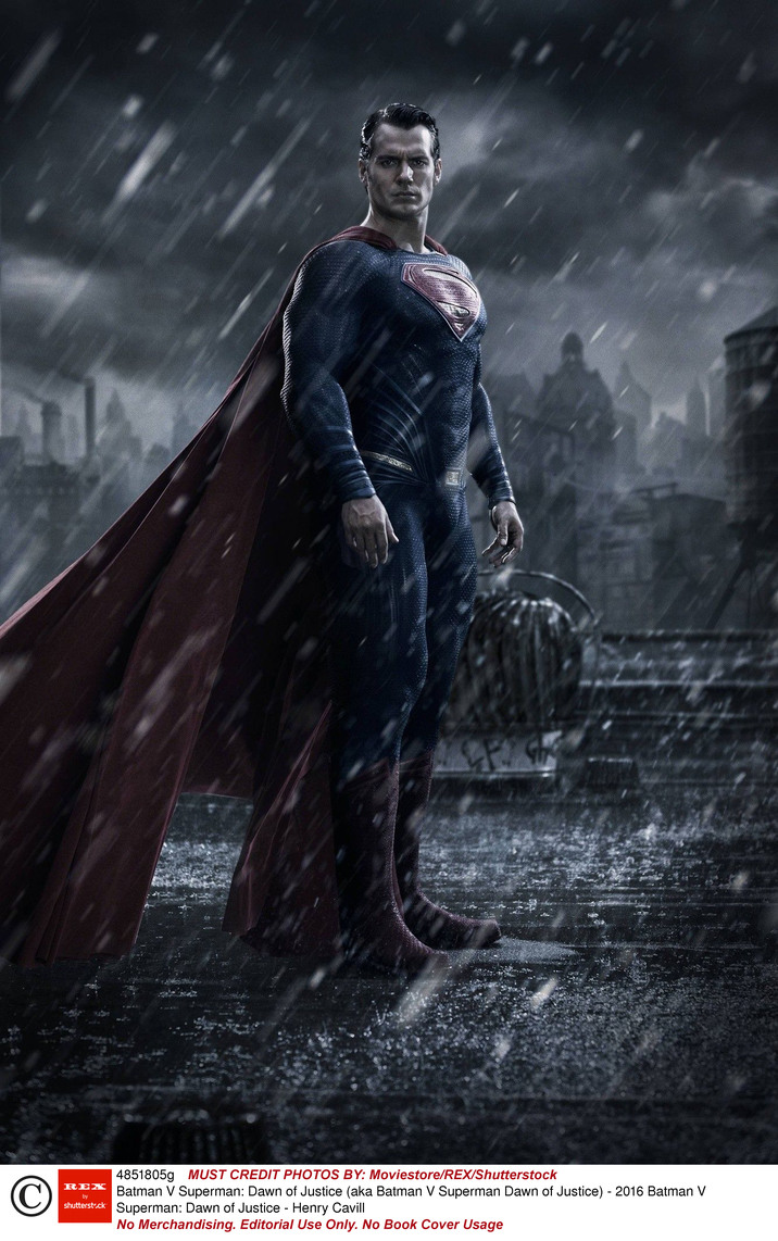 No Merchandising. Editorial Use Only. No Book Cover Usage Mandatory Credit: Photo by Moviestore/REX/Shutterstock (4851805g) Batman V Superman: Dawn of Justice - Henry Cavill Batman V Superman: Dawn of Justice (aka Batman V Superman Dawn of Justice) - 2016