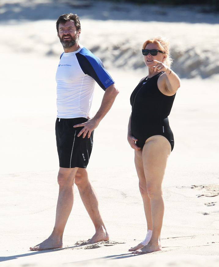 Exclusive... 52022706 'Wolverine' actor Hugh Jackman and his wife Deborra-Lee Furness enjoy a cool dip in the ocean while on vacation in St. Barts, France on April 13, 2016. The happy couple are currently celebrating their 20th wedding anniversary! Jackman, who has been diagnosed with skin cancer several times in the last couple of years, didn't seem to mind catching some rays in the ocean with his wife. Deborra-Lee could be seen sporting a small bandage on her right foot during the swim!  'Wolverine' actor Hugh Jackman and his wife Deborra-Lee Furness enjoy a cool dip in the ocean while on vacation in St. Barts, France on April 13, 2016. The happy couple are currently celebrating their 20th wedding anniversary! Jackman, who has been diagnosed with skin cancer several times in the last couple of years, didn't seem to mind catching some rays in the ocean with his wife. Deborra-Lee could be seen sporting a small bandage on her right foot during the swim! FameFlynet, Inc - Beverly Hills, CA, USA - +1 (310) 505-9876 RESTRICTIONS APPLY: NO GERMANY,NO ITALY,NO FRANCE,NO SPAIN